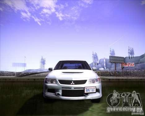 Mitsubishi Lancer Evolution VIII MR для GTA San Andreas вид сзади