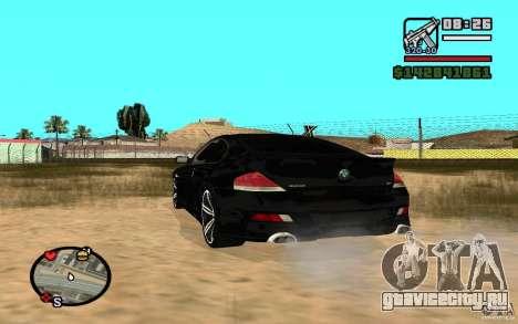 BMW M6 2006 для GTA San Andreas вид справа