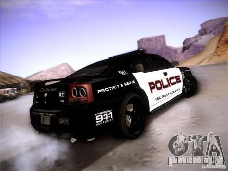 Dodge Charger RT Police Speed Enforcement для GTA San Andreas вид сзади слева