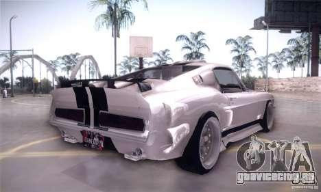Shelby GT500 для GTA San Andreas вид сзади