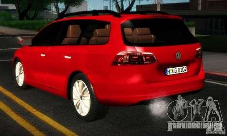 Volkswagen Passat B7 2012 для GTA San Andreas вид справа