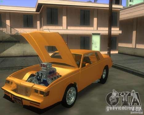 Buick GNX pro stock для GTA San Andreas вид сзади слева