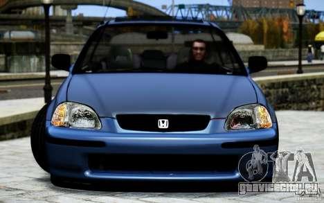 Honda Civic VTİ для GTA 4 вид изнутри