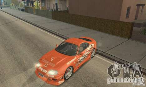 Toyota Supra Tunable 2 для GTA San Andreas салон