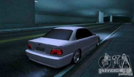 BMW 750i для GTA San Andreas вид справа