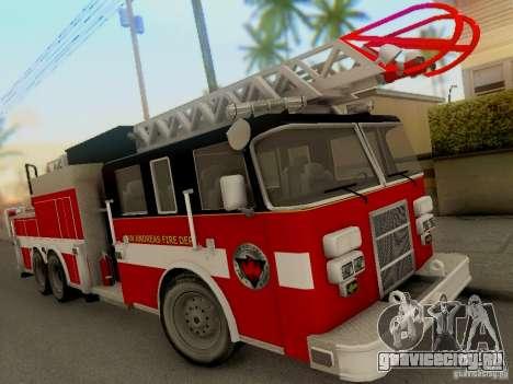 Pierce Firetruck Ladder SA Fire Department для GTA San Andreas вид слева