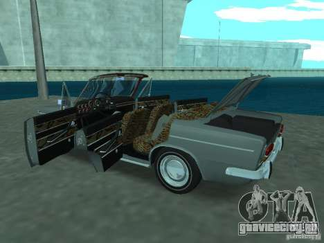 ВАЗ 2103 Cabrio для GTA San Andreas вид изнутри