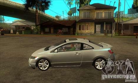 Honda Civic Si - Stock для GTA San Andreas вид слева