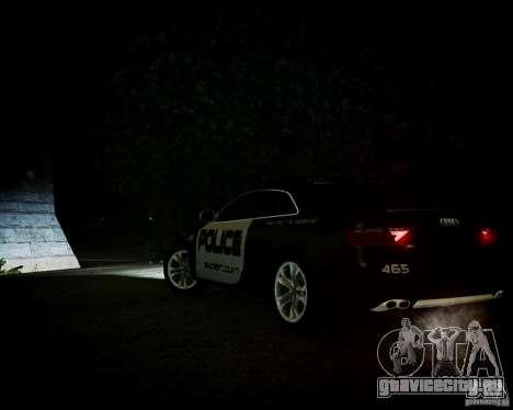 Audi S5 Police для GTA 4 вид изнутри