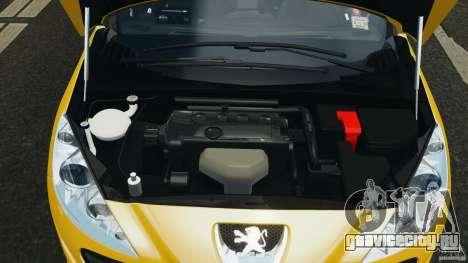 Peugeot 308 GTi 2011 Taxi v1.1 для GTA 4 вид сверху