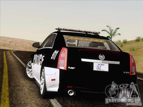 Cadillac CTS-V Police Car для GTA San Andreas вид изнутри