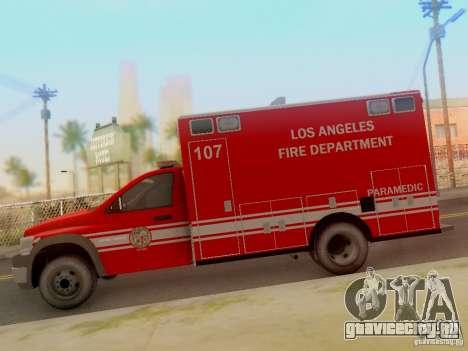 Dodge Ram 1500 LAFD Paramedic для GTA San Andreas вид слева