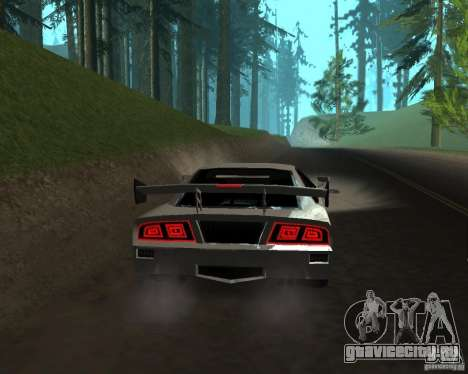 Azik Turismo для GTA San Andreas вид сзади слева