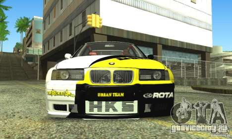 BMW E36 Urban Perfomance Garage для GTA San Andreas вид сзади