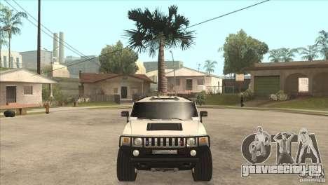 Hummer H6 для GTA San Andreas вид изнутри