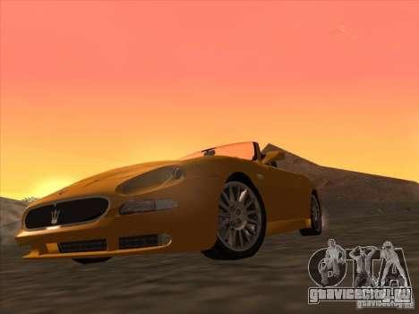 Maserati Spyder Cambiocorsa для GTA San Andreas вид слева