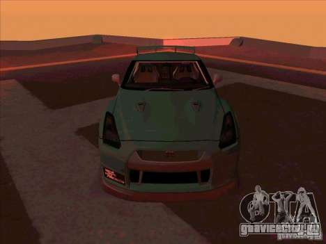 Nissan GT-R R35 rEACT для GTA San Andreas вид сзади