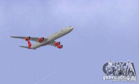 Airbus A340-600 Virgin Atlantic для GTA San Andreas вид справа