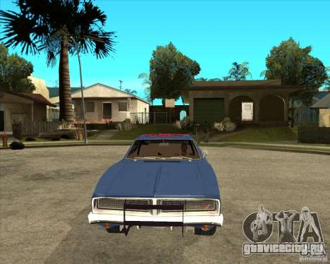 Dodge Charger General Lee Генерал Ли для GTA San Andreas вид сзади