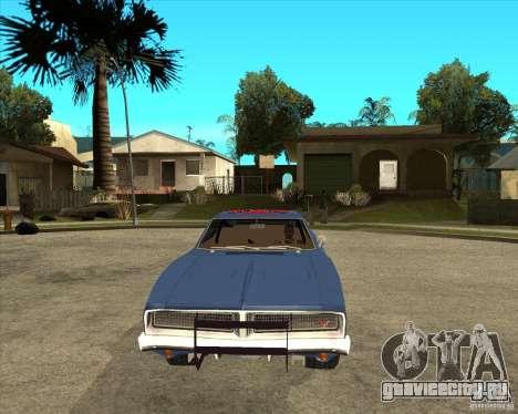 Dodge Charger General Lee Генерал Ли для GTA San Andreas вид сзади