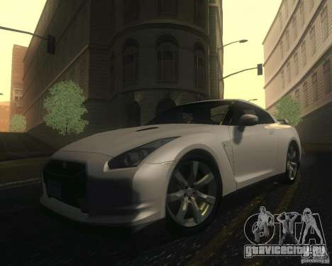 Nissan GTR R35 Spec-V 2010 Stock Wheels для GTA San Andreas вид сверху