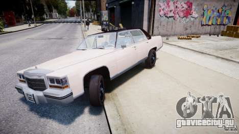 Cadillac Fleetwood Brougham 1985 для GTA 4 салон