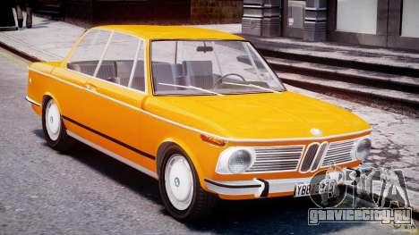 BMW 2002 1972 для GTA 4 вид изнутри