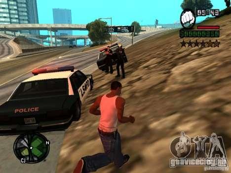 HUD и Шрифт v1.0 для GTA San Andreas второй скриншот