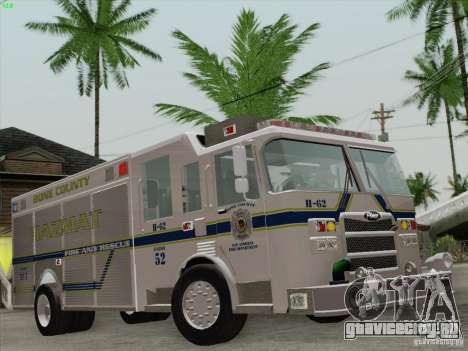 Pierce Fire Rescues. Bone County Hazmat для GTA San Andreas двигатель