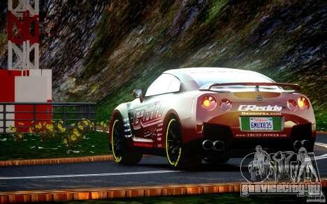 Nissan GT-R Black Edition GReddy для GTA 4 вид справа
