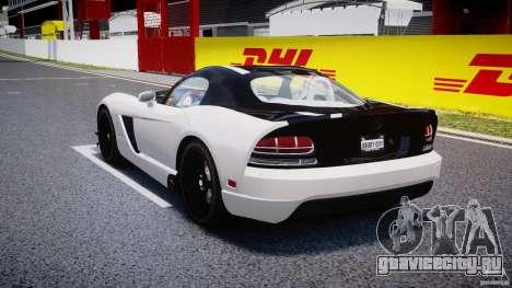 Dodge Viper SRT-10 ACR 2009 v2.0 [EPM] для GTA 4 вид сзади слева