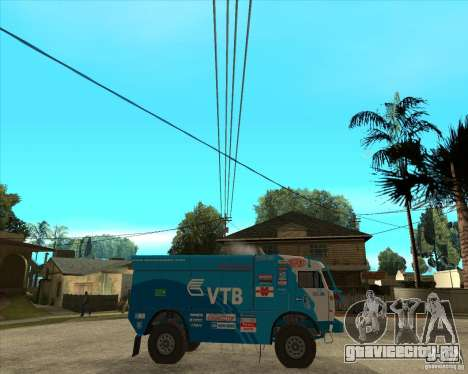 KAMAZ 4911 (2007) Rally Raid version для GTA San Andreas вид справа