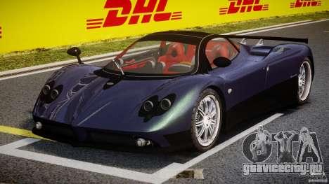 Pagani Zonda F для GTA 4 вид сзади