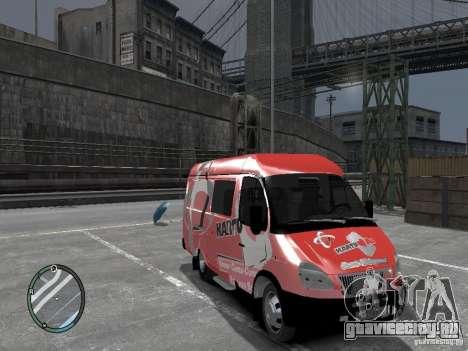 ГАЗель 2705 Telkomsel Van для GTA 4 вид справа