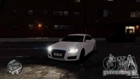Audi A7 Sportback для GTA 4 вид сбоку