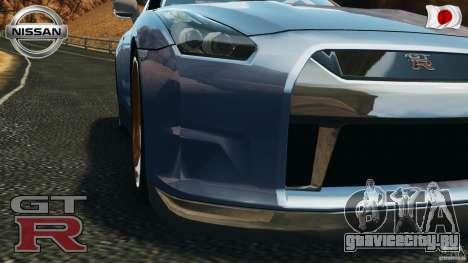 Nissan GT-R 35 rEACT v1.0 для GTA 4 вид сзади
