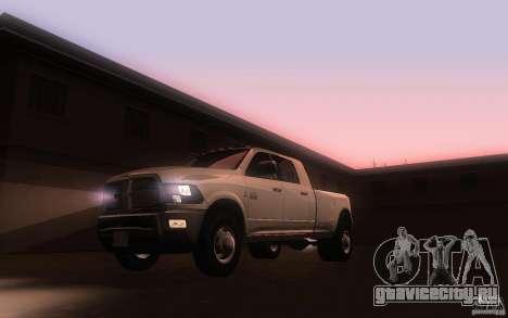 Dodge Ram 3500 Laramie 2010 для GTA San Andreas вид слева