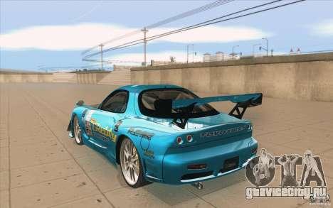 Mazda RX-7 911 Trust для GTA San Andreas вид сзади слева