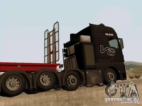MAN TGX 8x4 для GTA San Andreas вид сзади слева