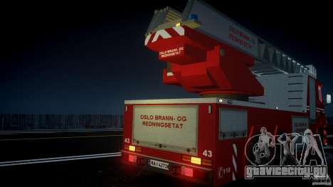 Scania Fire Ladder v1.1 Emerglights blue [ELS] для GTA 4 двигатель