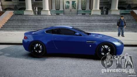Aston Martin V8 Vantage V1.0 для GTA 4 вид изнутри