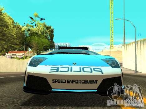 Lamborghini Murcielago LP640 Police V1.0 для GTA San Andreas вид изнутри