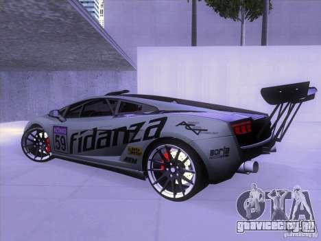 Lamborghini Gallardo Racing Street для GTA San Andreas вид сзади слева