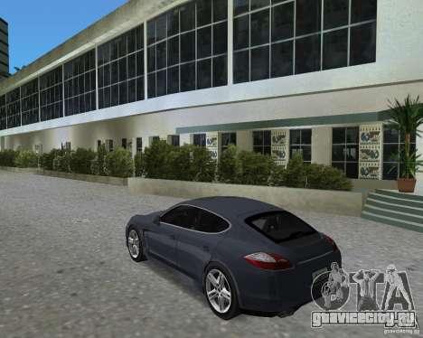 Porsche Panamera для GTA Vice City вид справа