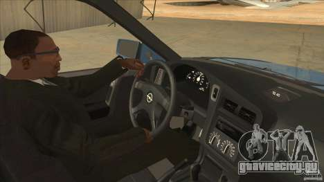 Opel Astra F Tuning для GTA San Andreas вид изнутри