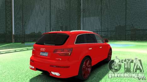 Audi Q7 v12 TDI для GTA 4 вид сзади слева