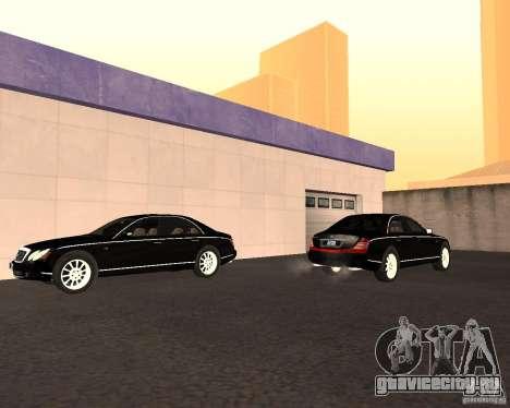Maybach 57S для GTA San Andreas вид изнутри