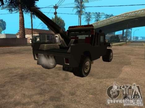 HUMMER H1 тягач для GTA San Andreas вид сзади слева