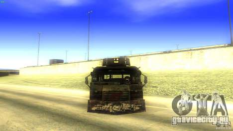 Frontline - MilBus для GTA San Andreas вид справа