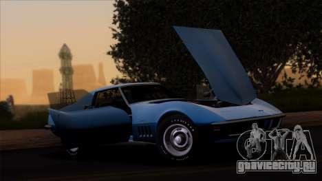 Chevrolet Corvette C3 Stingray T-Top 1969 v1.1 для GTA San Andreas вид сзади слева